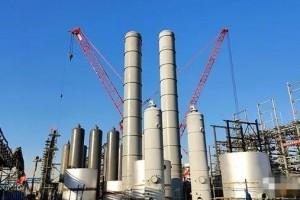 锦州石化PSA设备全部吊装完成