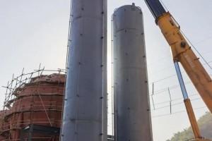九江项目200m³二氧化碳储罐安装就位